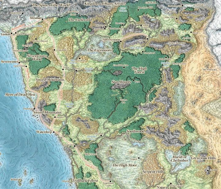 Sword Coast Campaign Map