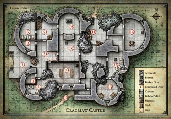 Phandelver Map Cragmaw Castle DM