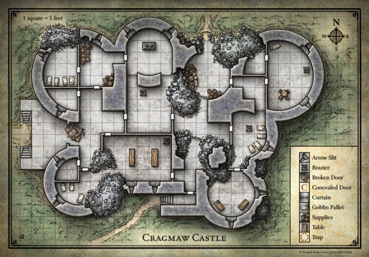 Phandelver Map Cragmaw Castle Player