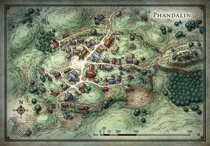 Phandelver Map Phandalin Player