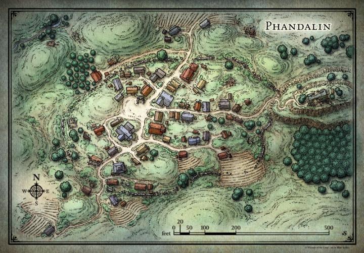 Phandelver Map Phandalin Player