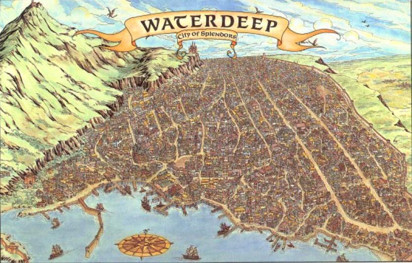 Waterdeep Map Art