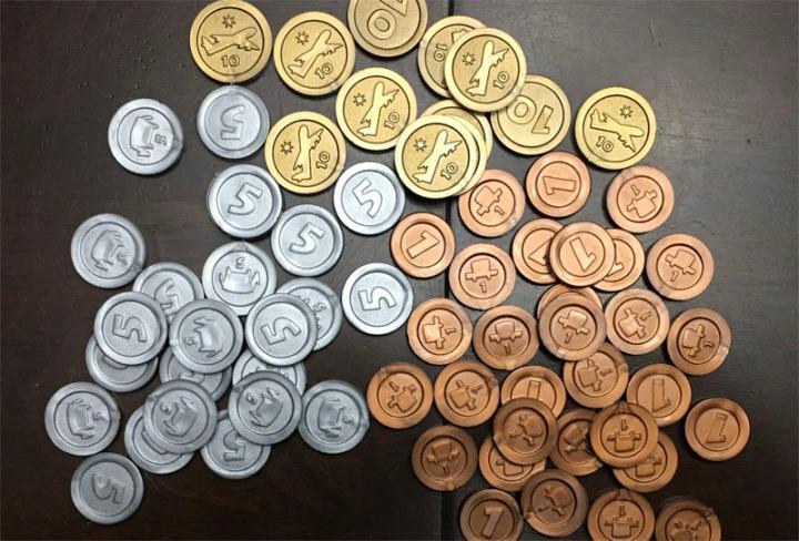 Machi Koro coins