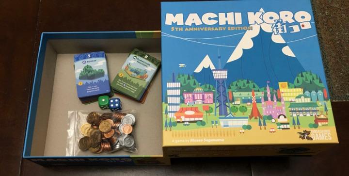 Machi Koro components