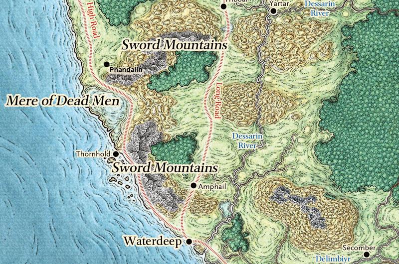Map Phandalin to Waterdeep