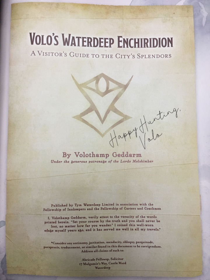 Waterdeep Enchiridion signed
