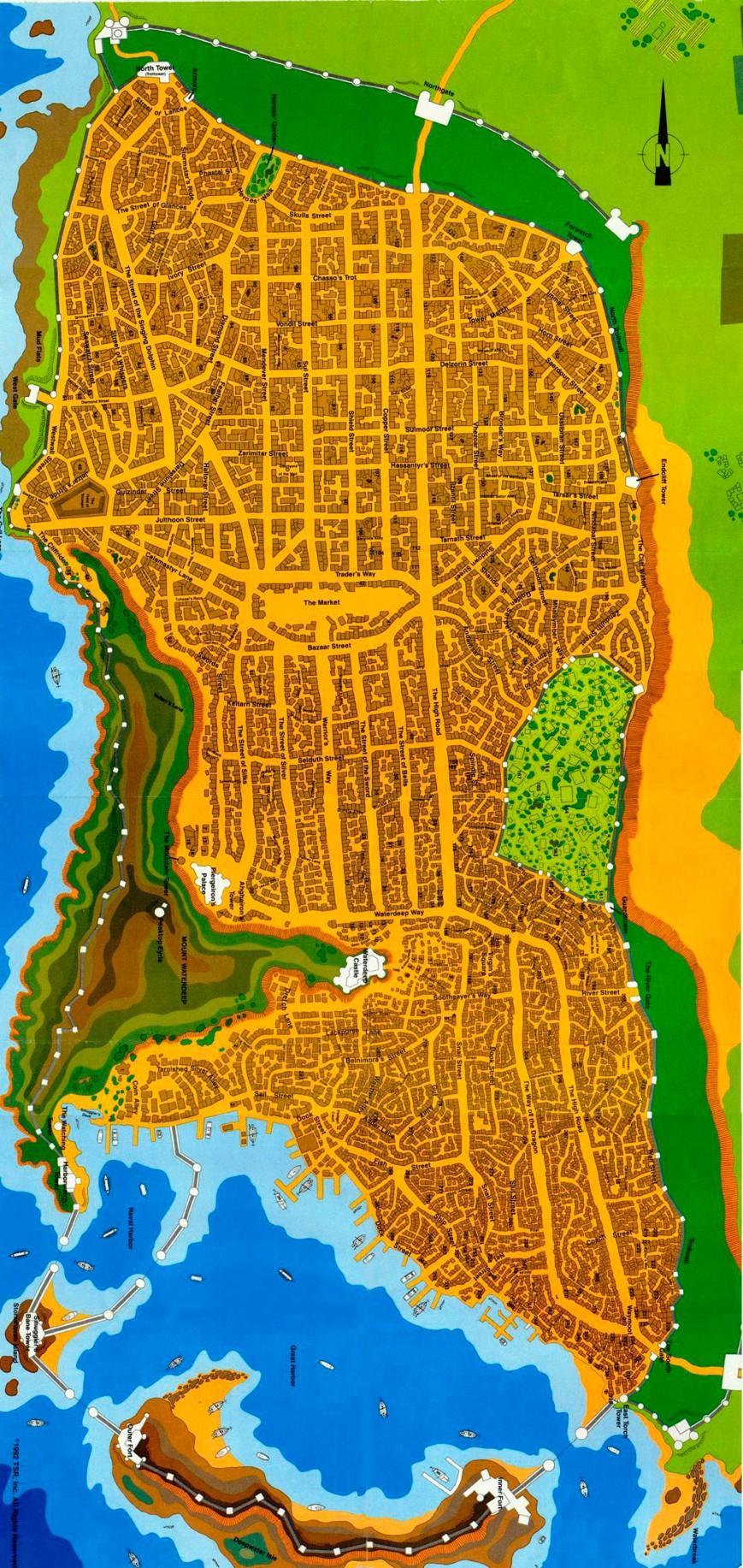 Waterdeep Map 1st editon