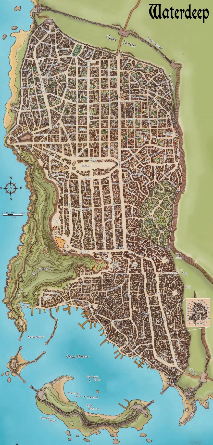 Waterdeep Map 2nd edition