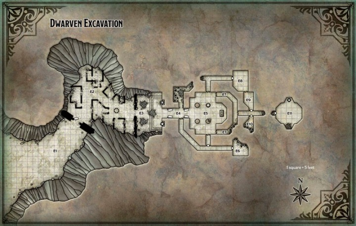 Map Dwarf Excavation DM