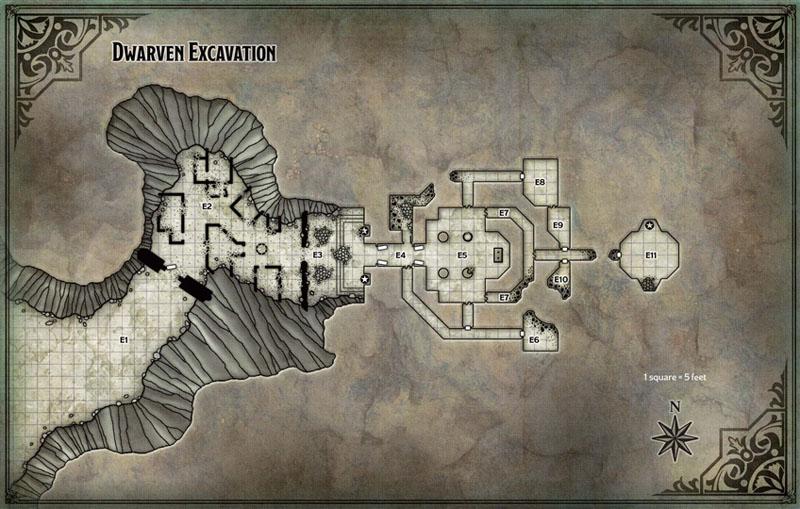 Map Dwarf Excavation DM