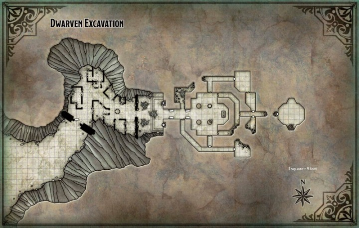 Map Dwarf Excavation PC