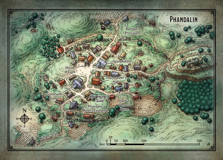 Map Phandalin Guild