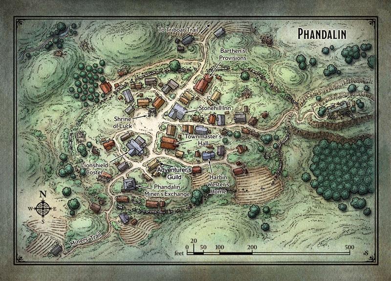 Map Phandalin Guild