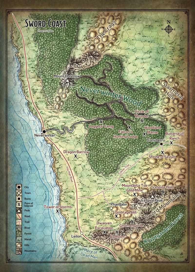 Map Sword Coast DM