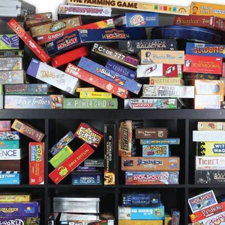 Messy Game Shelf