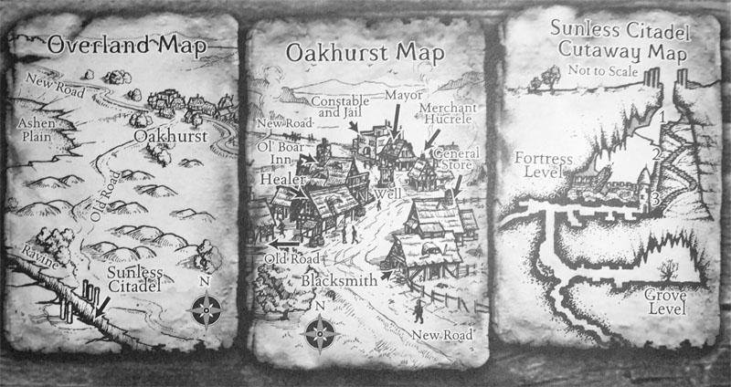 Sunless Citadel Original maps