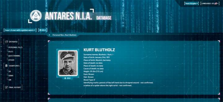 Detective Antares Database