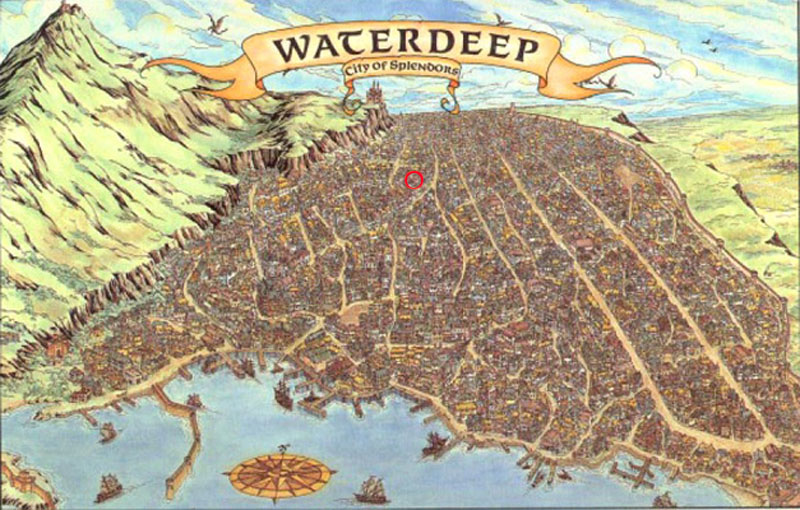 Waterdeep Map with YP