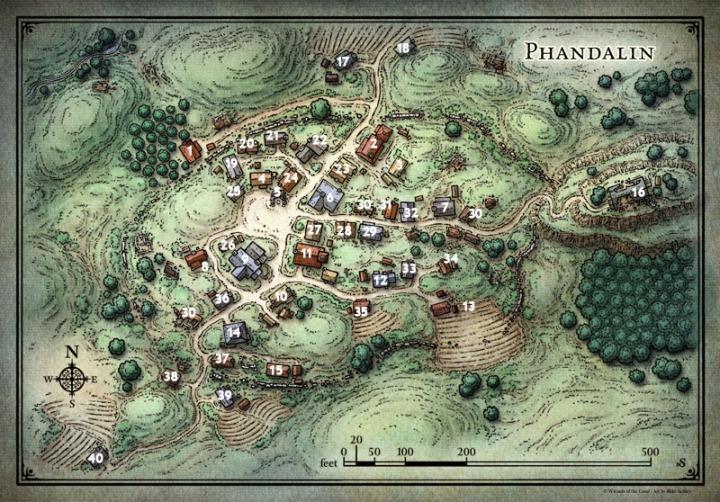 Phandalin Village Map
