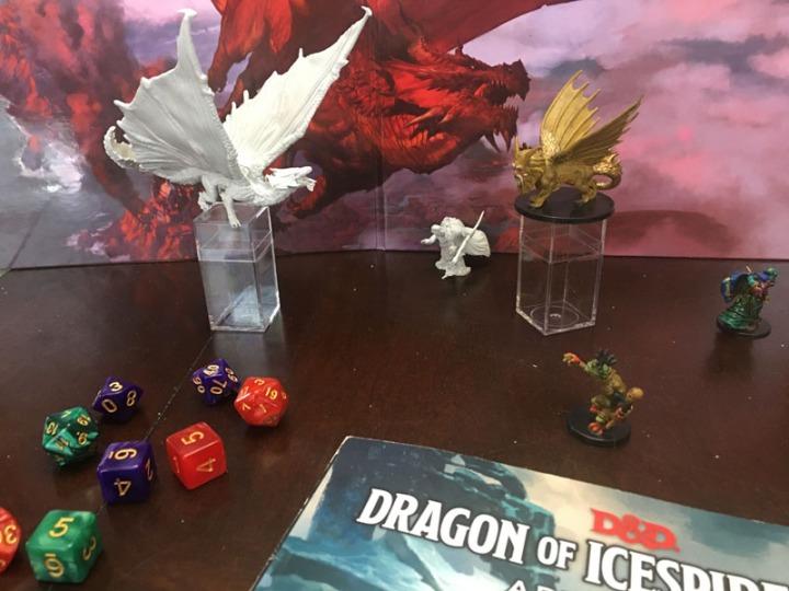 Ice 4 Dragon Manticore battle