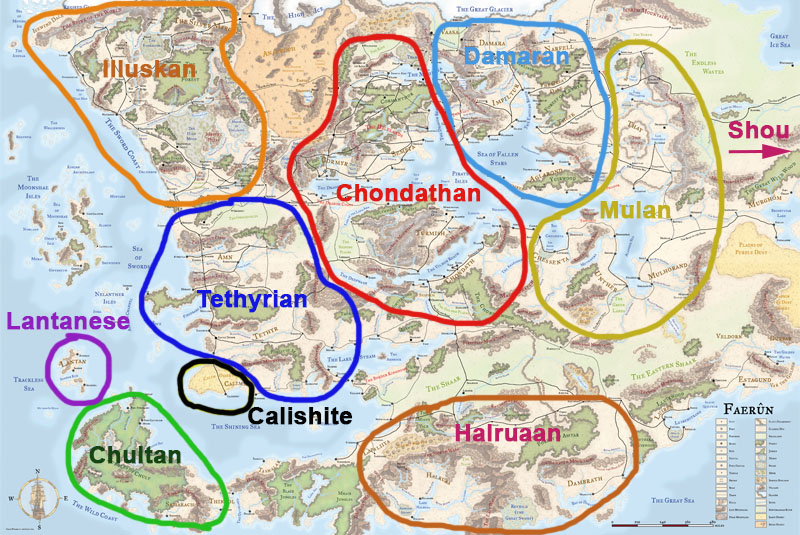Faerun Ethnicity Map